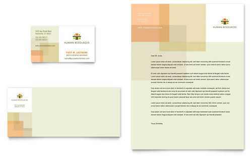 HR Consulting Business Card & Letterhead