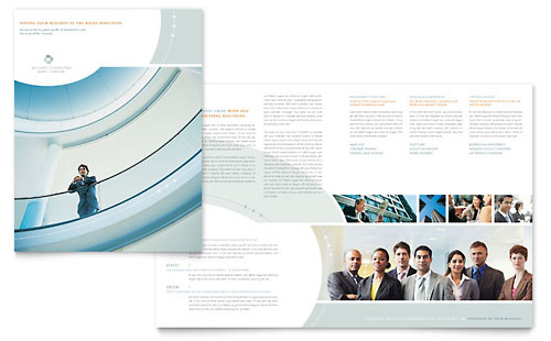 Business Consulting Brochure Template Design
