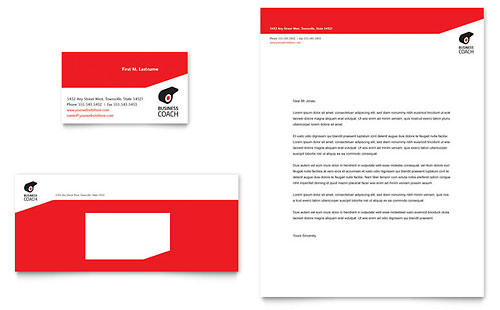 Business Executive Coach Business Card & Letterhead