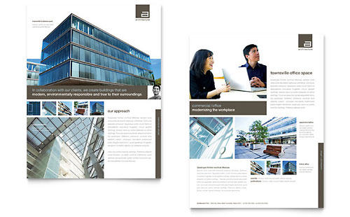 Architect Datasheet Template Design