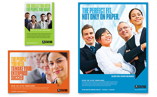 Staffing & Recruitment Agency Flyer & Ad