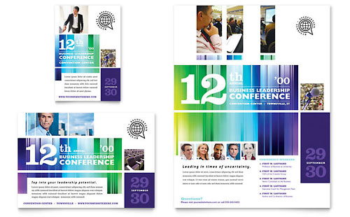 Business Leadership Conference Flyer & Ad Template Design