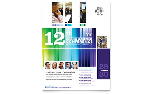 Business Leadership Conference Flyer Template Design
