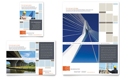 Civil Engineers Flyer & Ad Template Design