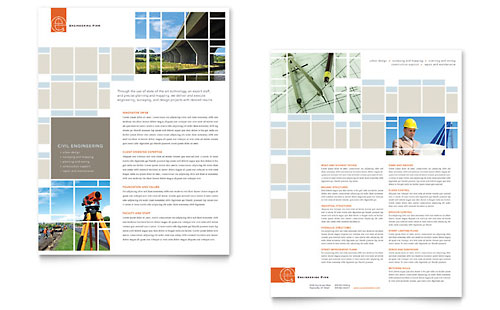 Civil Engineers Datasheet Template Design