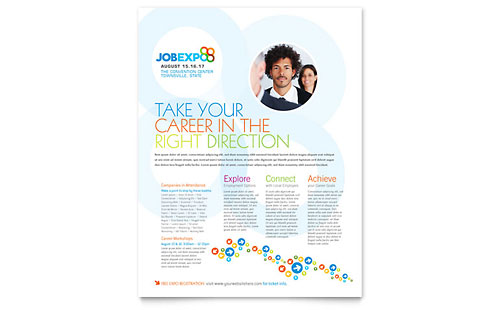 Job Expo & Career Fair Flyer Template Design