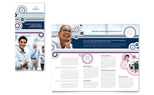 Marketing Agency Tri Fold Brochure Template
