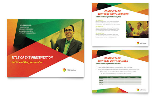public relations company powerpoint presentation template design, Presentation templates