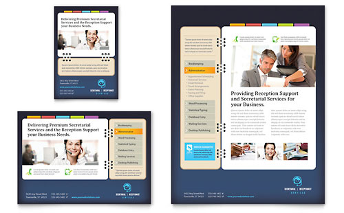 Secretarial Services Flyer & Ad Template Design