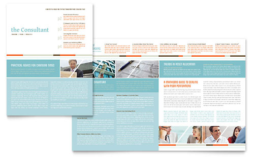 Management Consulting Newsletter Template Design