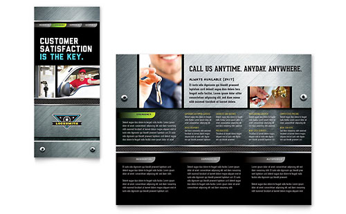 Locksmith Brochure Template Design