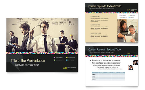 Human Resource Management PowerPoint Presentation Template Design