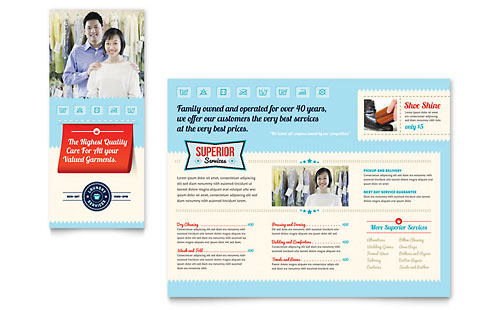 Laundry Services Brochure Template