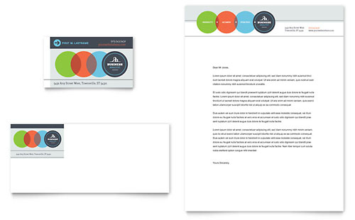 Business Analyst Business Card & Letterhead Template Design