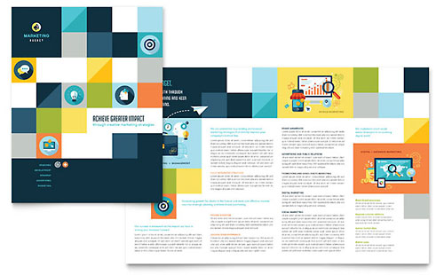 Advertising Company Brochure Template Design