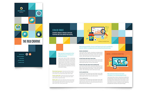 Advertising Company Tri Fold Brochure Template Design