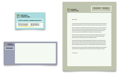 Business Consultants Business Card & Letterhead