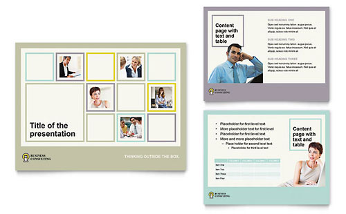 Business Consultants Presentation PowerPoint Template