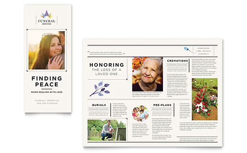 Funeral Services Tri-Fold Brochure Template Design