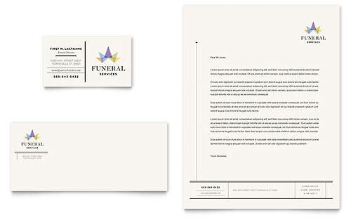 Funeral Services Business Card & Letterhead