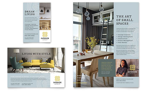 Interior Design - Sample Print Ad Template