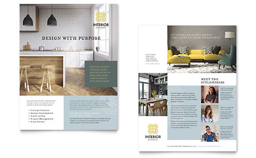 Interior Design Datasheet Design Template