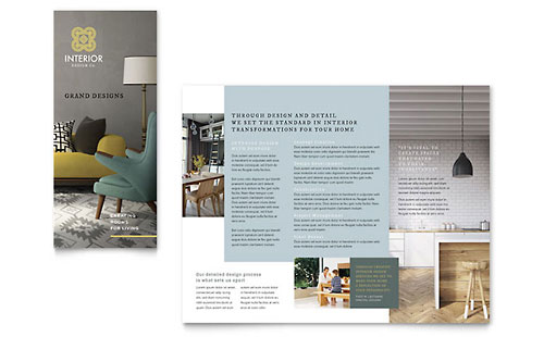 Interior Design Tri Fold Brochure