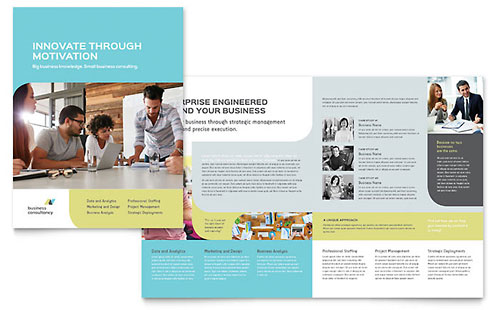 Small Business Consultant Brochure Illustrator Template