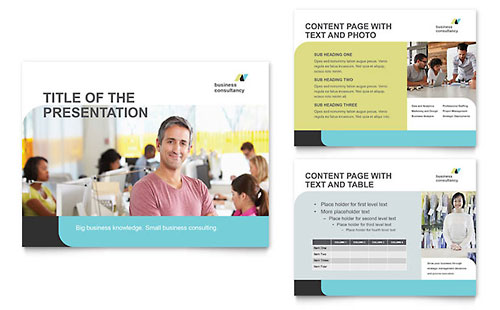 Small Business Consultant Presentation PowerPoint Template