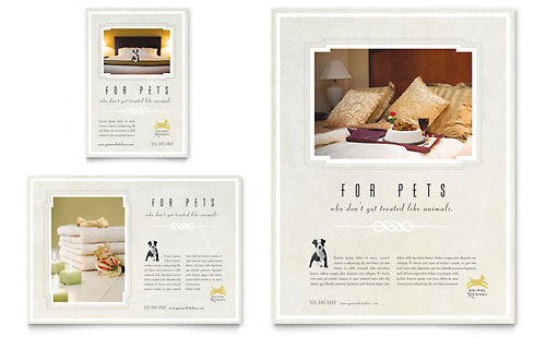 Pet Hotel & Spa Flyer & Ad
