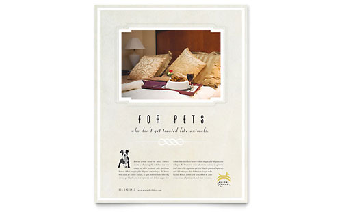 Pet Hotel & Spa Flyer Template