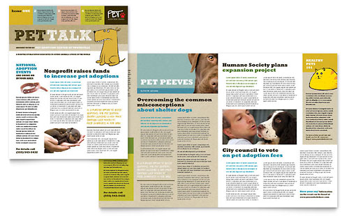 Animal Shelter & Pet Adoption Newsletter Template Design