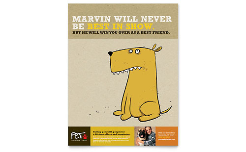 Animal Shelter & Pet Adoption Flyer Template