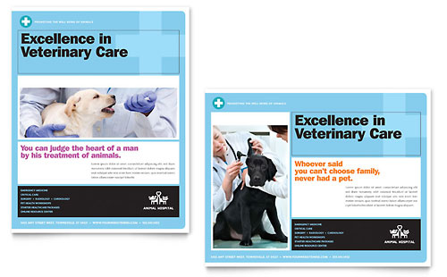 Animal Hospital Poster Template Design