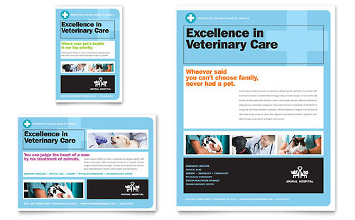 Animal Hospital Flyer & Ad Template Design