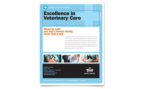 Animal Hospital Flyer Template Design