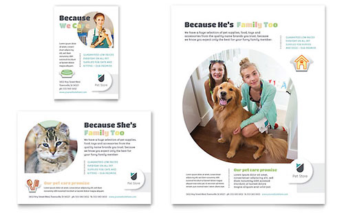 Pet Store Flyer & Ad Template Design