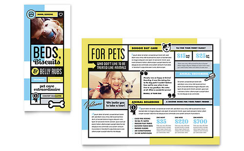 Animals & Pet Care Business Marketing Templates