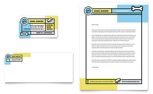 Pet Boarding Business Card & Letterhead