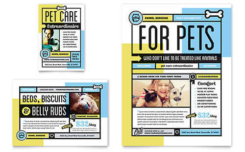 Pet Boarding Flyer & Ad