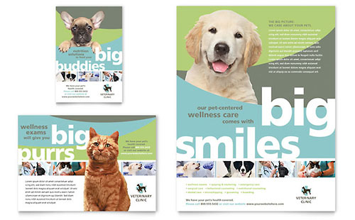 Vet Clinic - Sample Print Ad Template