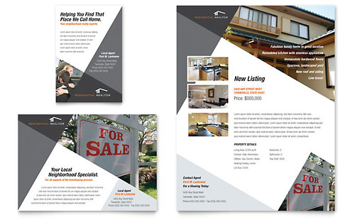 Contemporary & Modern Real Estate Flyer & Ad Template Design
