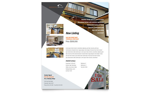 Contemporary & Modern Real Estate Flyer
