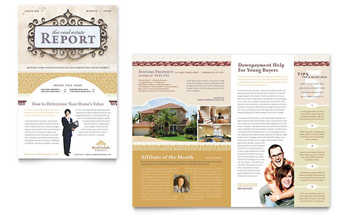 Real Estate Newsletters  Templates  Designs