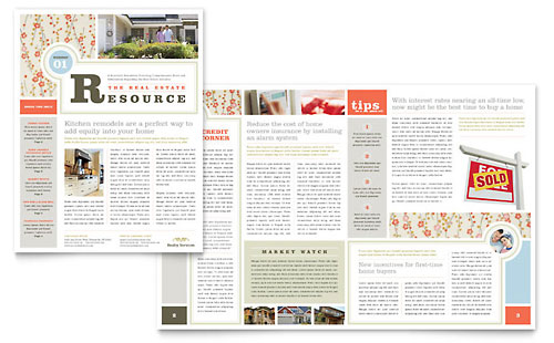 Country House Real Estate Newsletter Template Design