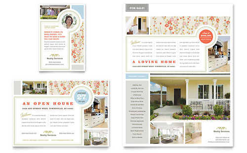 Country House Real Estate Flyer & Ad Template Design