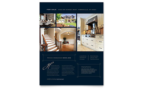 Luxury Home Real Estate Flyer Template Design - Commercial real estate brochure template