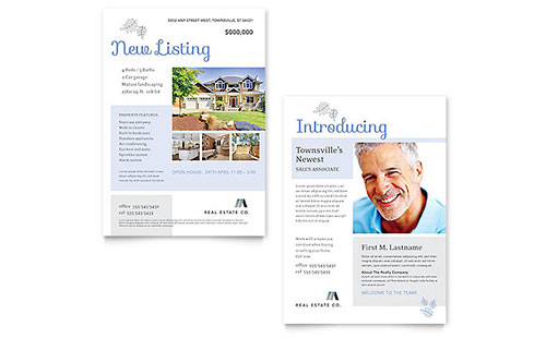 Real Estate Announcement Template