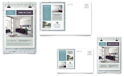 Urban Loft Postcard Template