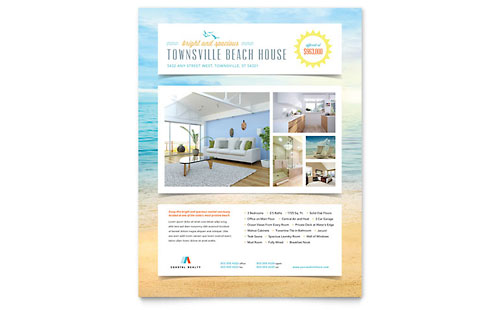 Beach House Flyer Design Template